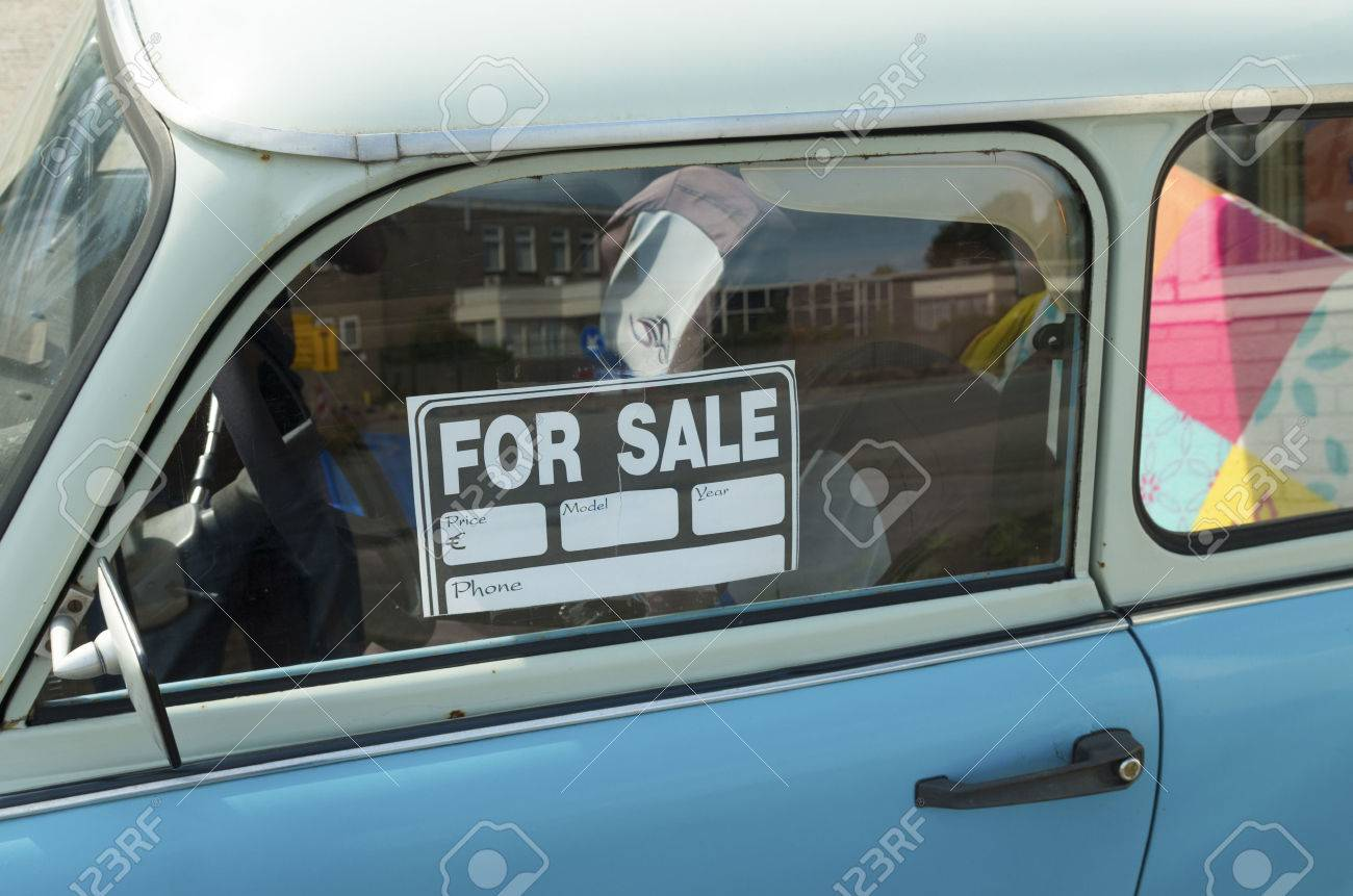 For Sale Sign On A Car Stock Photo Picture And Royalty Free Image