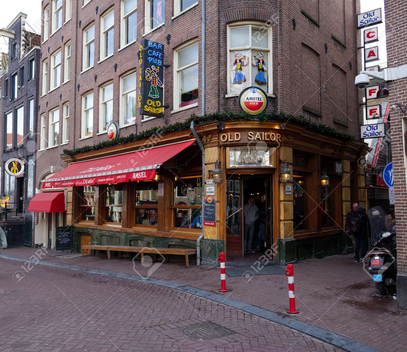 Exterior of the old sailor pub in the amsterdam red light district exterior of the old sailor pub in the amsterdam red light district it is one aloadofball Image collections