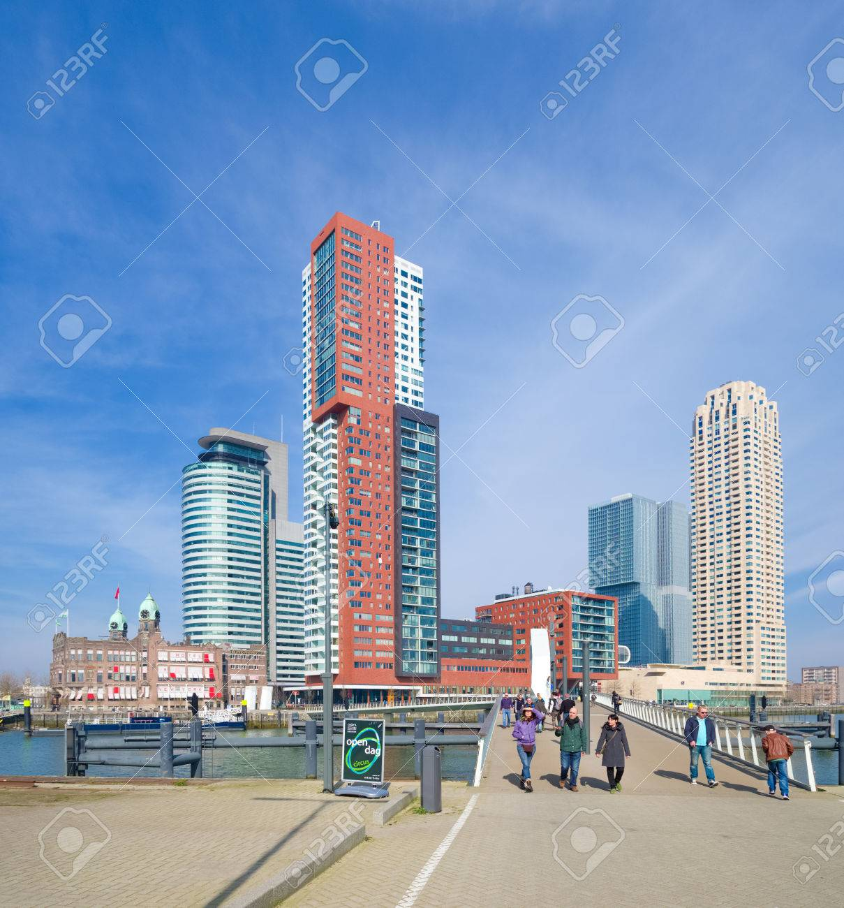 Modern Skyline Of Rotterdam. Rotterdam Is The Only City In The Netherlands  With A Real