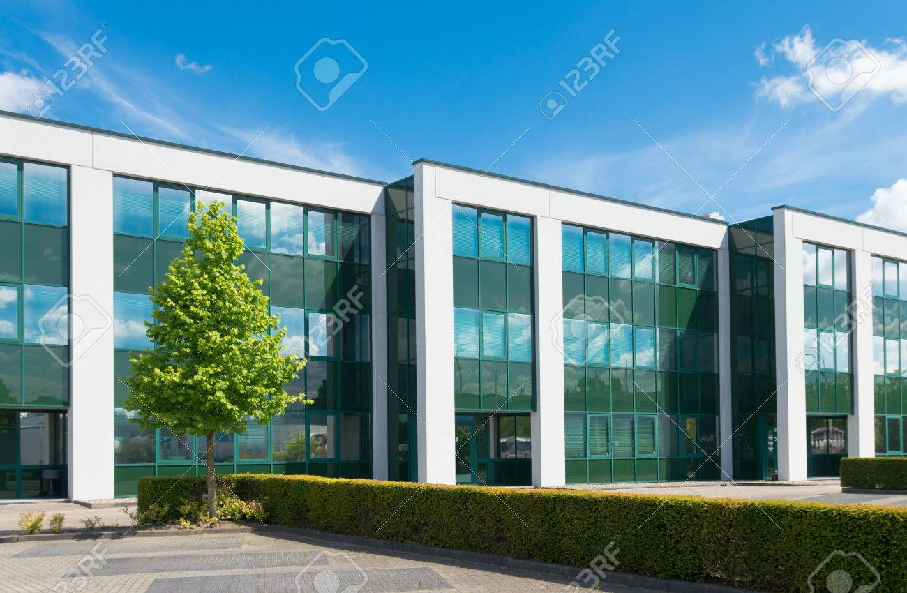 exterior office. exterior of a modern office building stock photo - 30919490