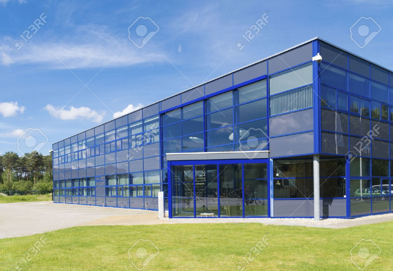 Exterior Of A Modern Small Office Building Stock Photo Picture - Modern office building