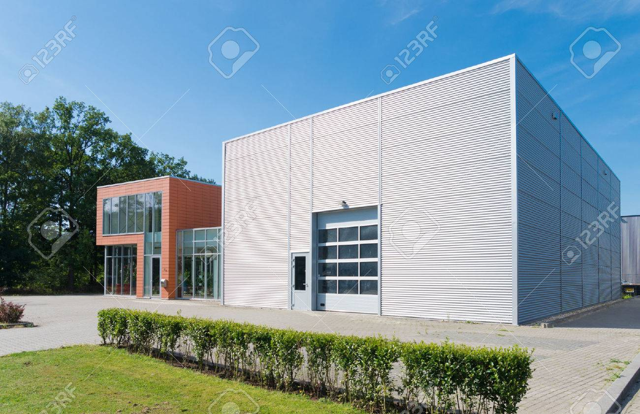 Exterior Of A Modern Warehouse Building With Office Stock Photo Picture And Royalty Free Image Image 45295751
