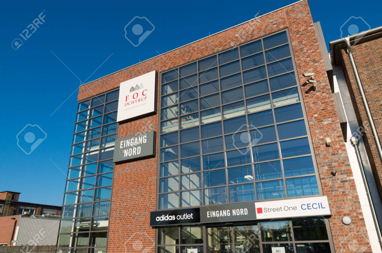 1dea95df OCHTRUP, GERMANY - OCTOBER 1, 2015: Entrance of the FOC factory outlet  center