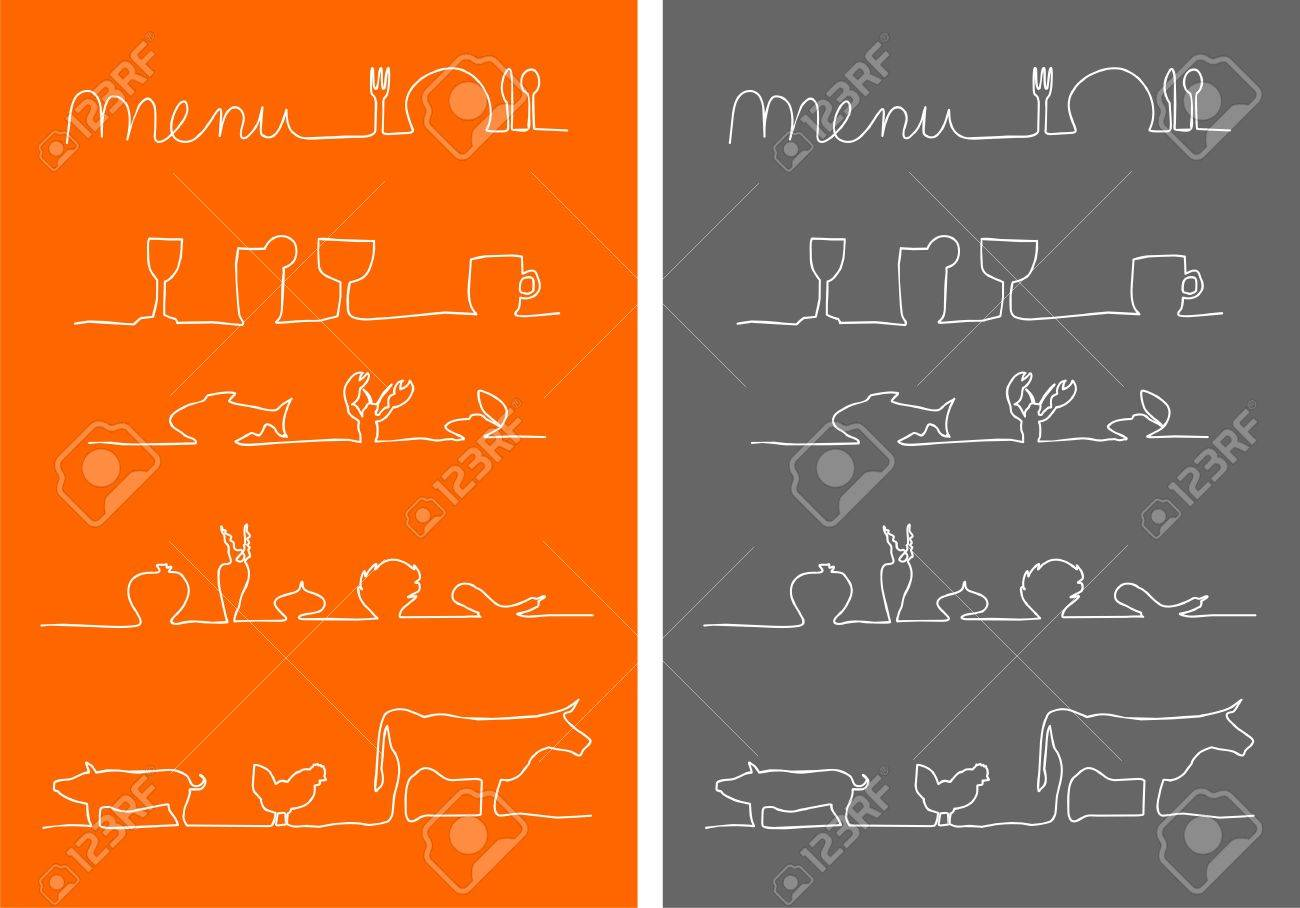 Menu, Food And Drink Menu Icons Stock Photo  12384998