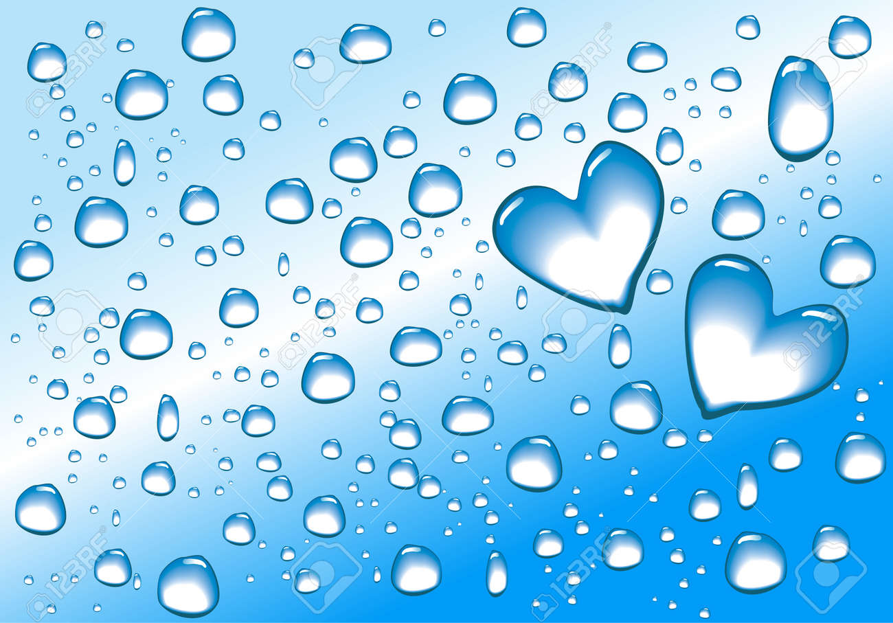Water Drops In Heart Shape Stock Photo, Picture And Royalty Free ...