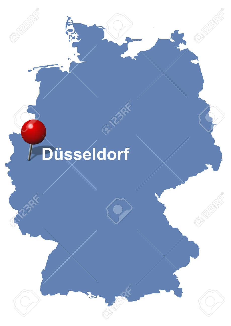 dizeldorf mapa Düsseldorf Aparece En El Mapa De Alemania Ilustraciones  dizeldorf mapa