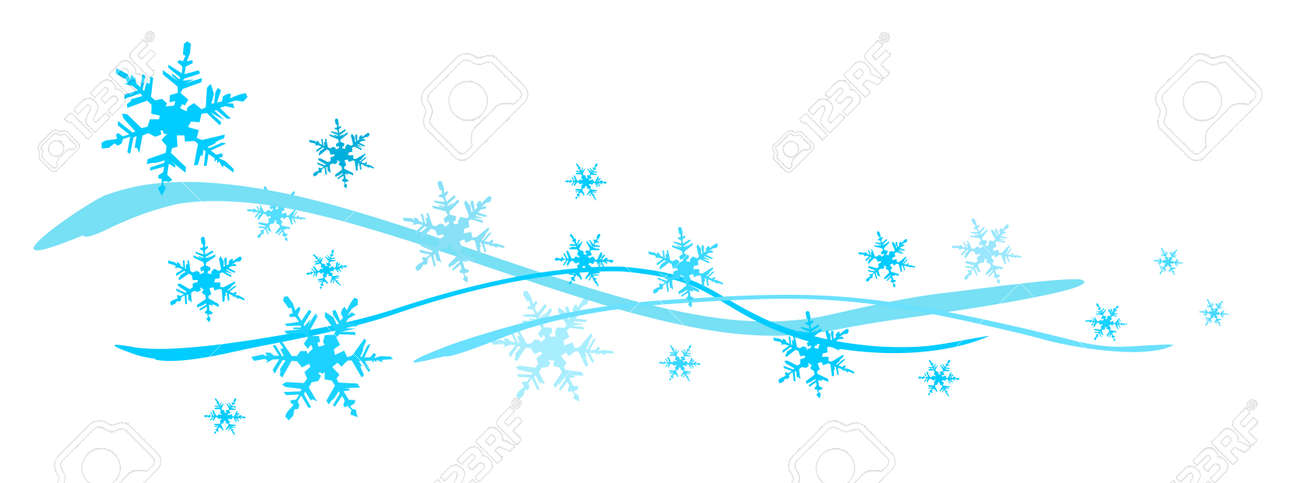 Snowflakes Banner Royalty Free Cliparts Vectors And Stock