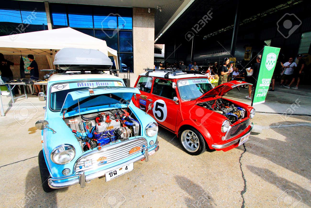 Bangkok Thailand September 9 2015 Blue And Red Classic Austin