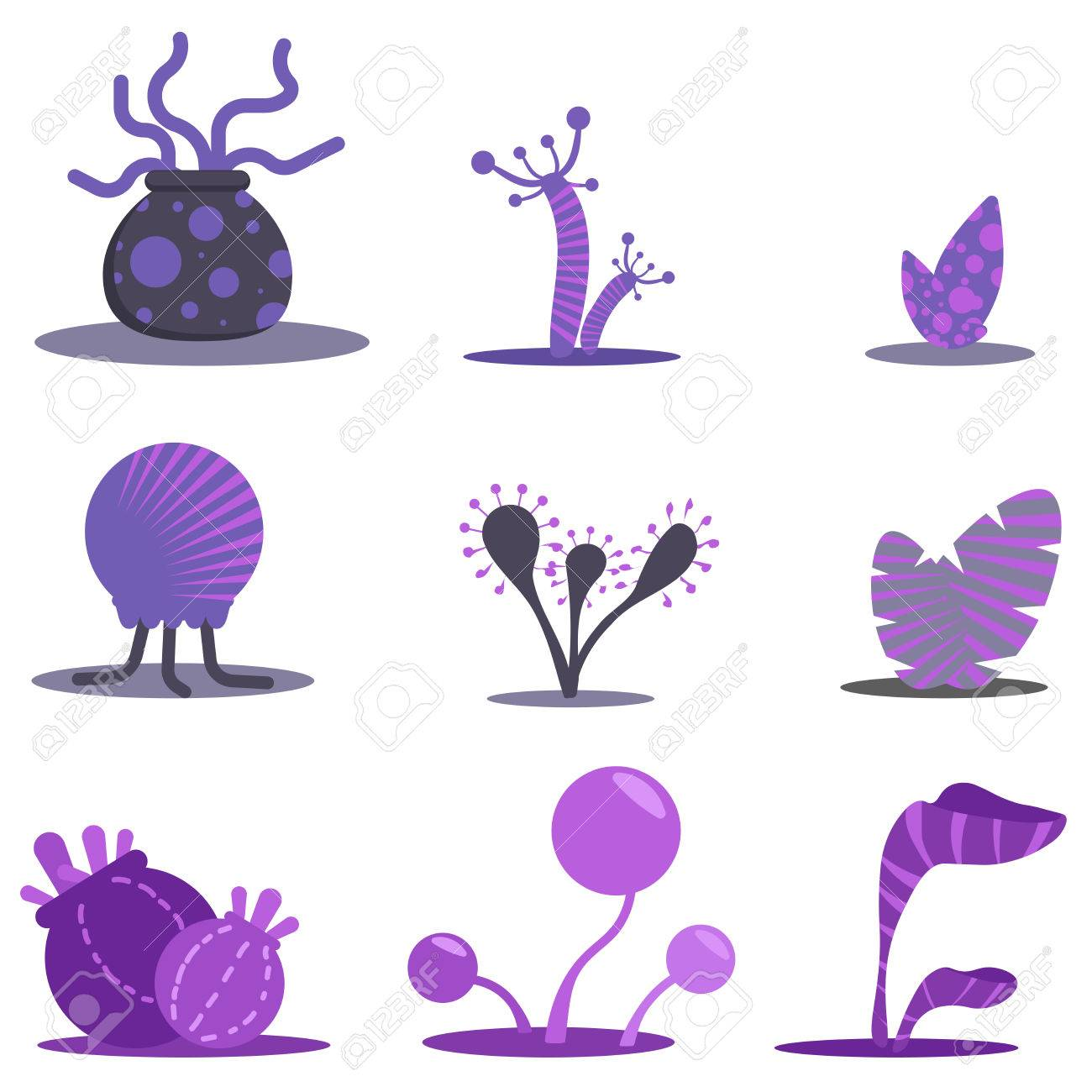 Alien Plants Clip Art