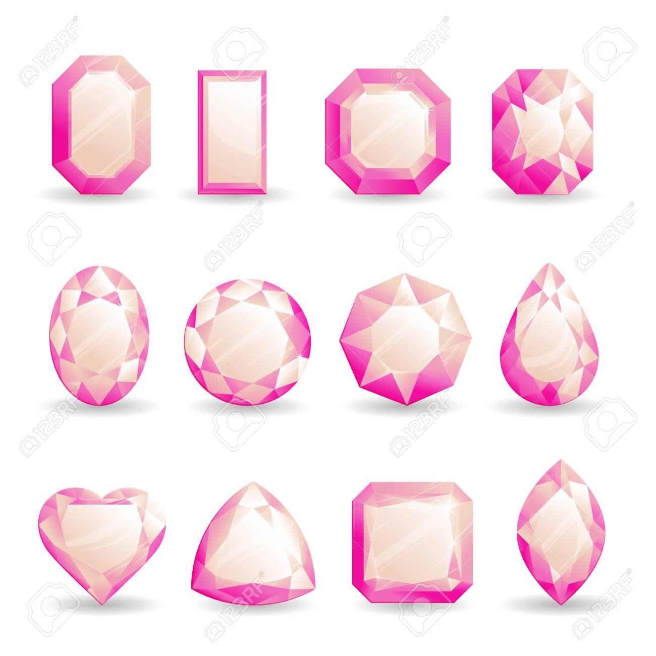 Set of Pink Tourmaline Crystals