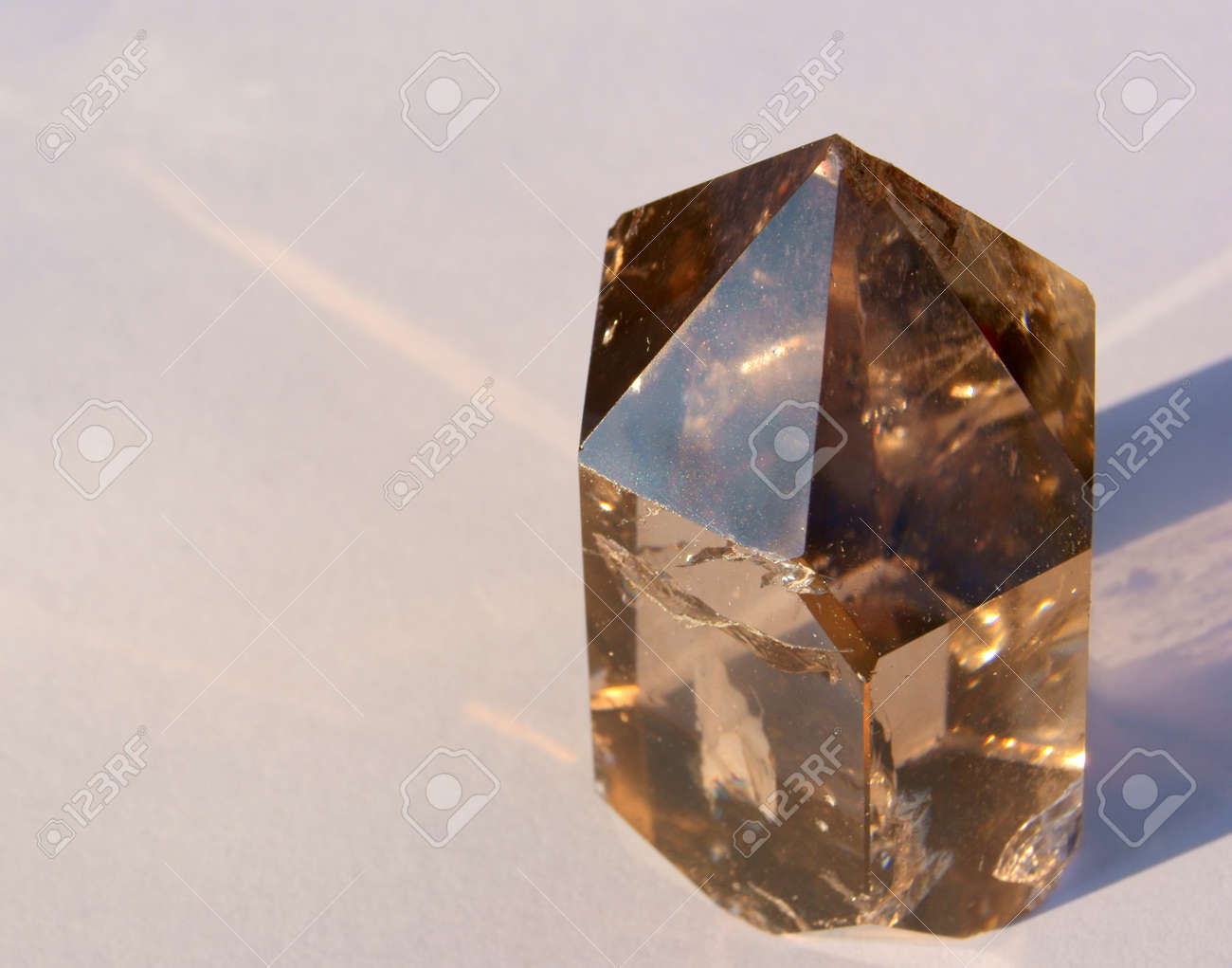 A Smoky Quartz Crystal from Hallelujah Junction, NV, USA Stock Photo - 18084238
