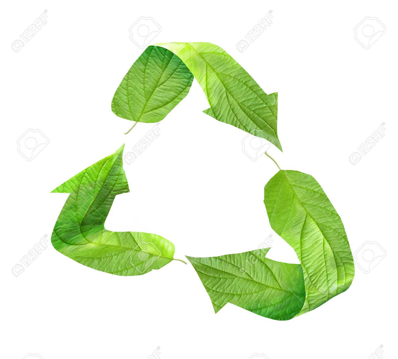 Eco recycling symbol composed of green leaves stock photo picture eco recycling symbol composed of green leaves stock photo 43142427 biocorpaavc Gallery