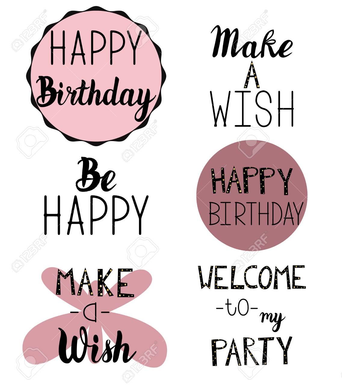 Feliz Cumpleaños Saludo Texto De Invitación Para Tarjetas Folletos Y Cualquier Otro Su Proyecto