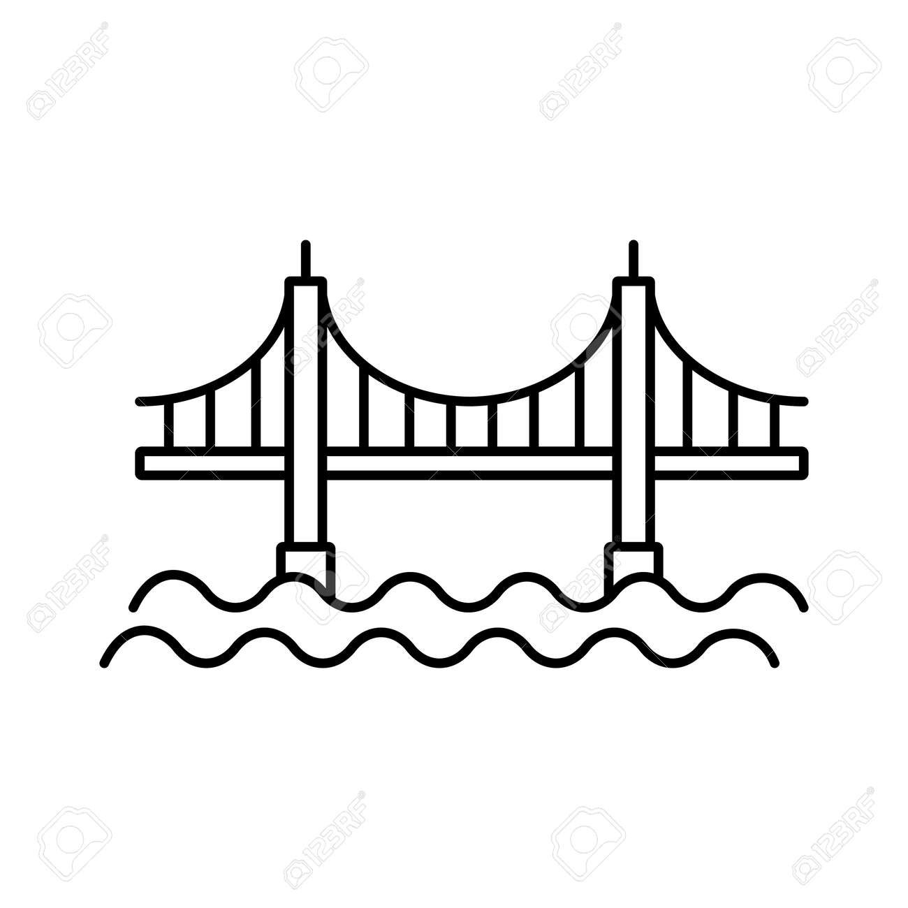 bridge icon element of building icon for mobile concept and web apps. Premium icon on white background. - 157173538