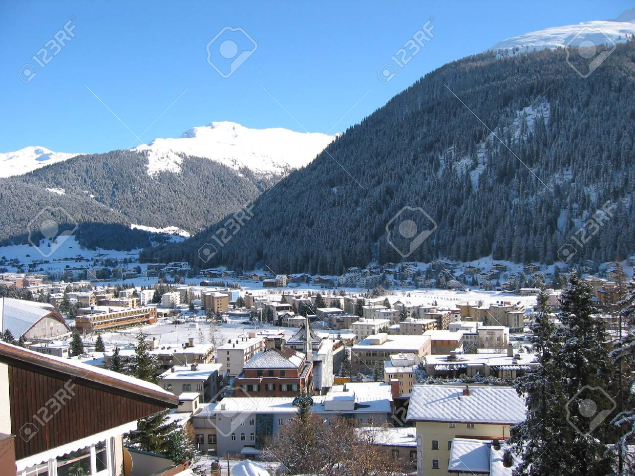 Winter view of Davos Stock Photo - 6159079