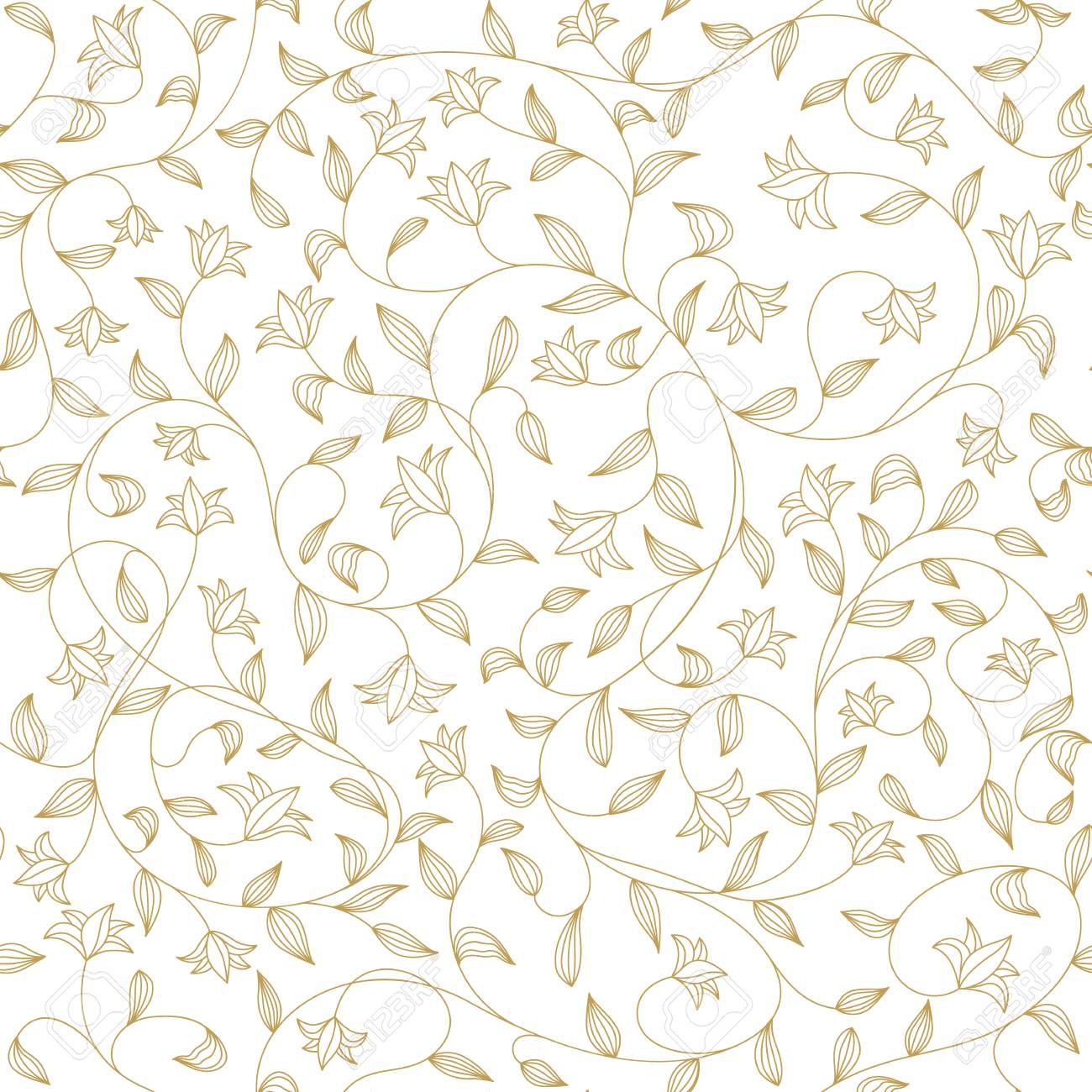 Seamless flower pattern, cute floral texture, lily background,
