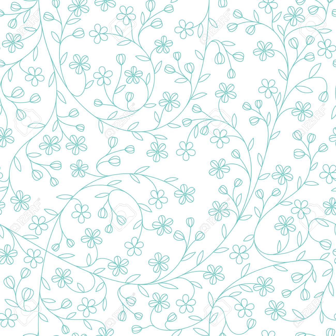 Seamless Little Daisy Flower Pattern Cute Floral Background