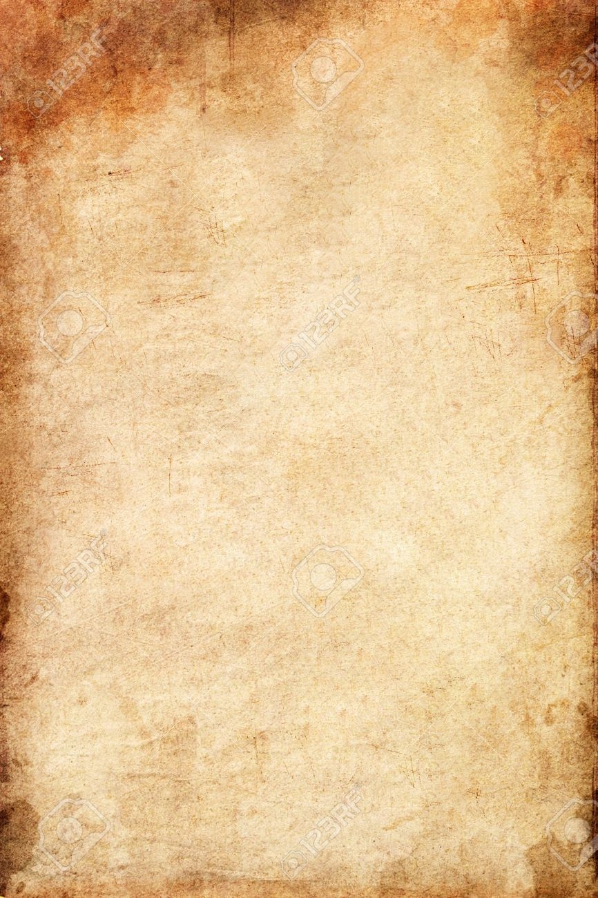 old grunge paper background with space stock photo, picture and