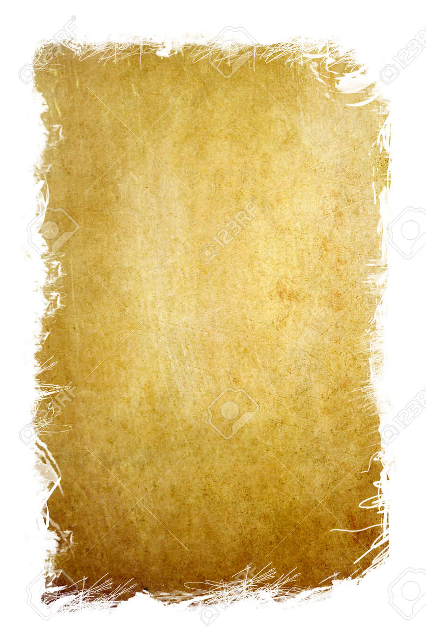 old grunge paper with white frame scratch border Stock Photo - 9295745