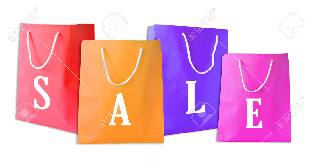 Sale shopping bags isolated Stock Photo - 9478375