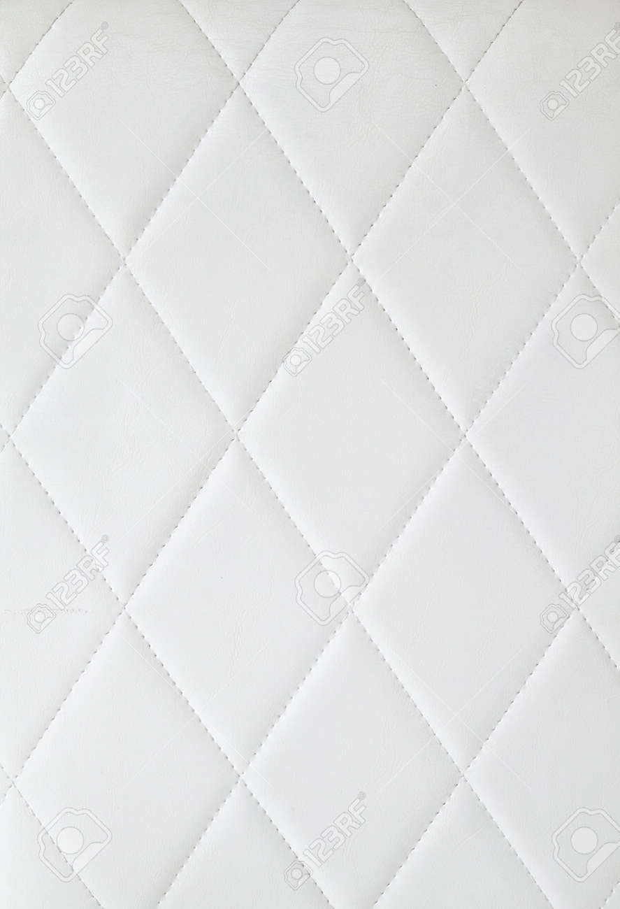 Leather cushion texture - Seat Cushion Background Of White Upholstery