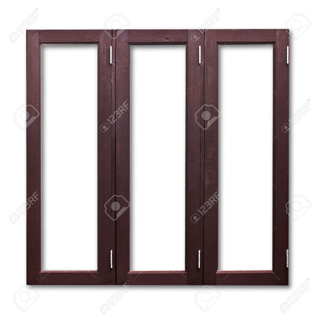 Wooden Window Frame Texture Isolated Wooden Window Frame