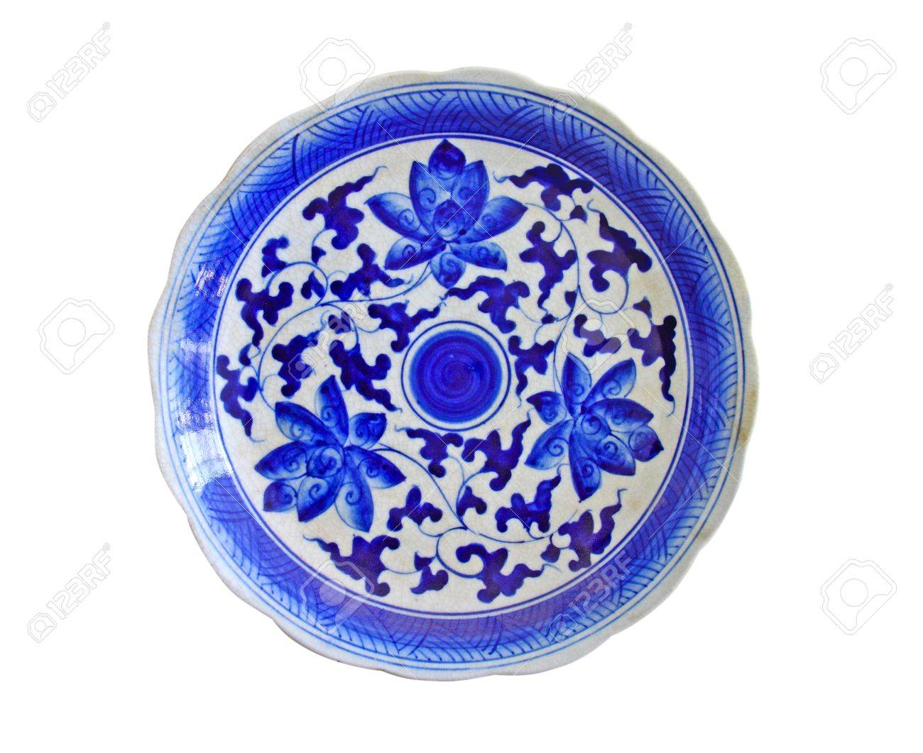 porcelain chinese painted isolated on white Stock Photo - 10285373