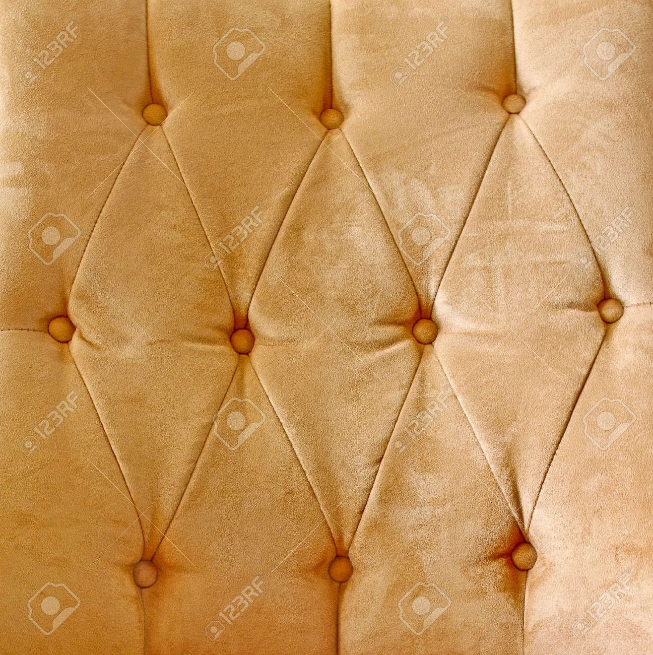 Detail of brown glamour leather vintage sofa Stock Photo - 10285374