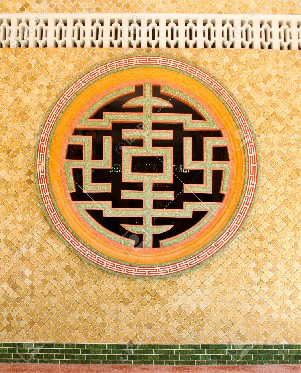 Decorative Windows For Houses Decorative Wall Of Chinese Temple Stock Photo Picture And Royalty