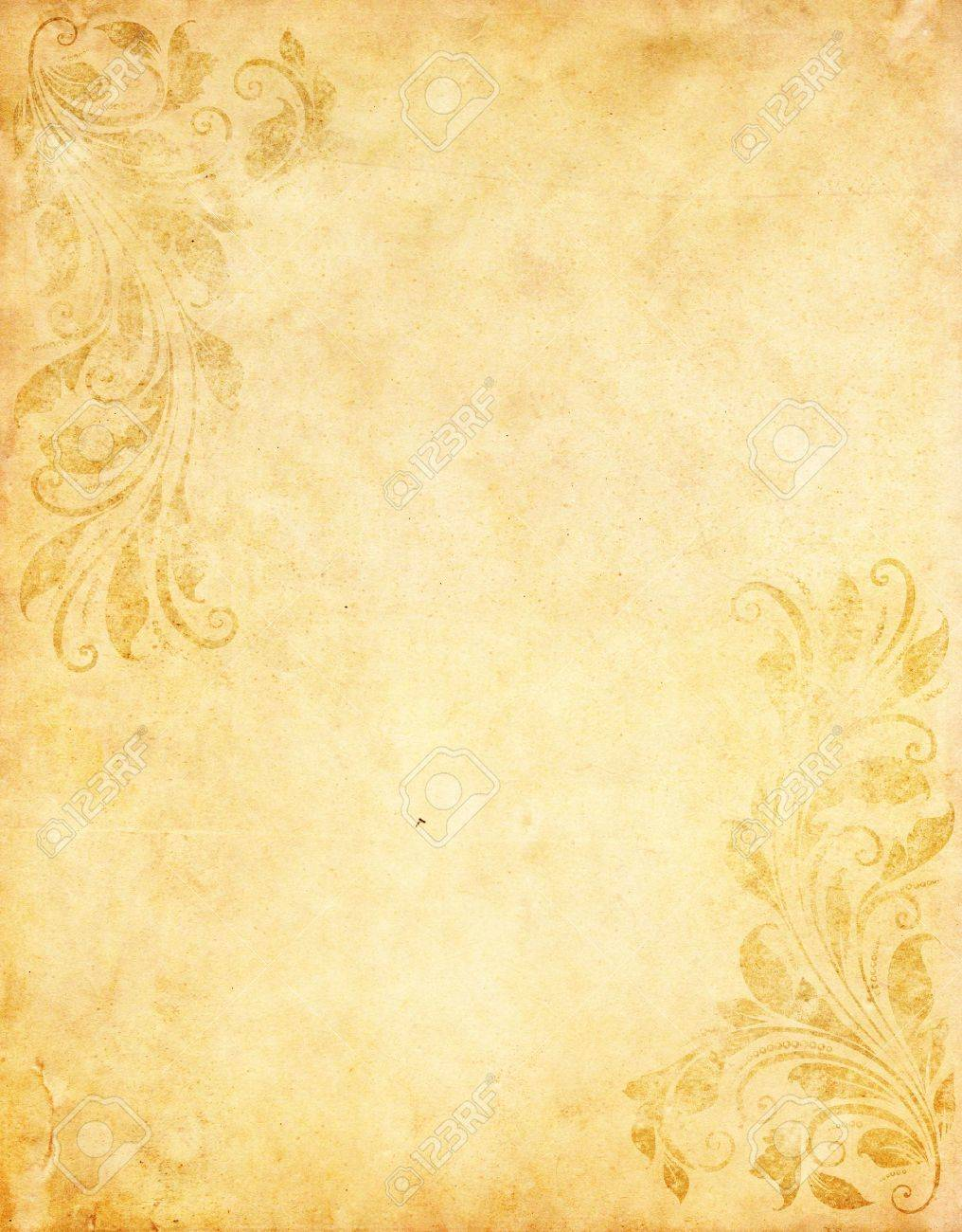 Old Grunge Paper Background With Vintage Victorian Style Stock ...
