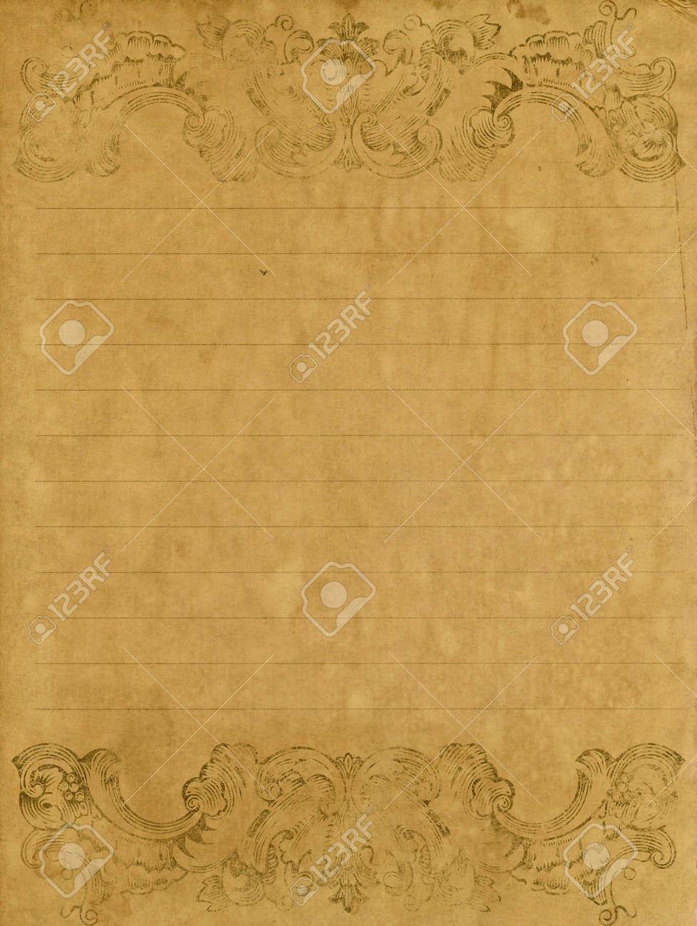 Old grunge letter paper with vintage victorian style stock photo old grunge letter paper with vintage victorian style stock photo 11809790 altavistaventures Images
