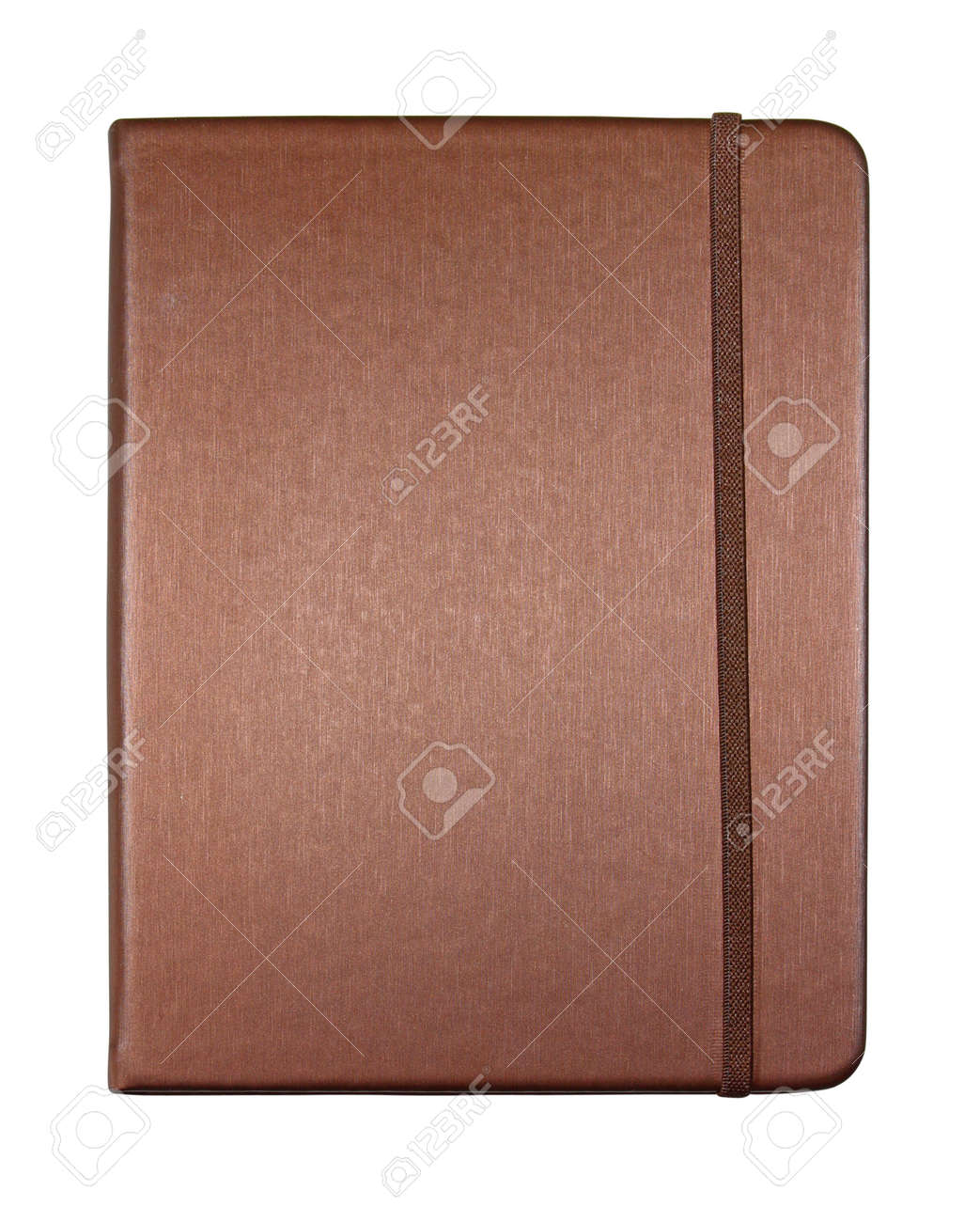 silk brown color cover note book isolated on white background Stock Photo - 11969813