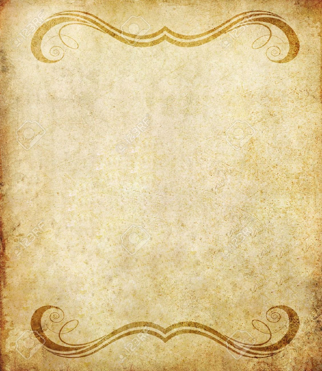 Old Grunge Paper Background With Vintage Style Stock Photo