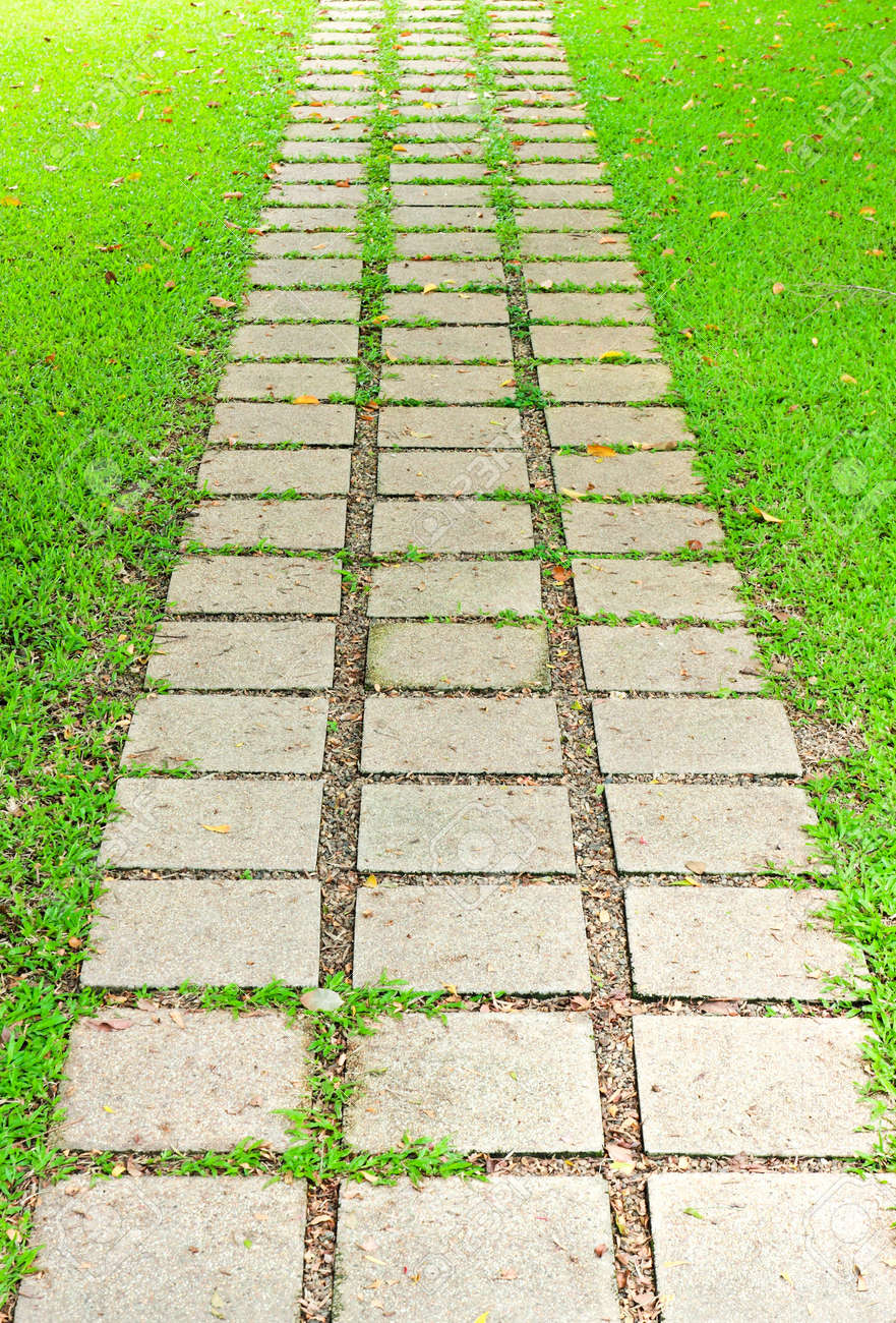 Stone walkway in garden royalty free stock photo image 34535795 - Stone Walkway In The Garden Stock Photo Picture And Royalty Free