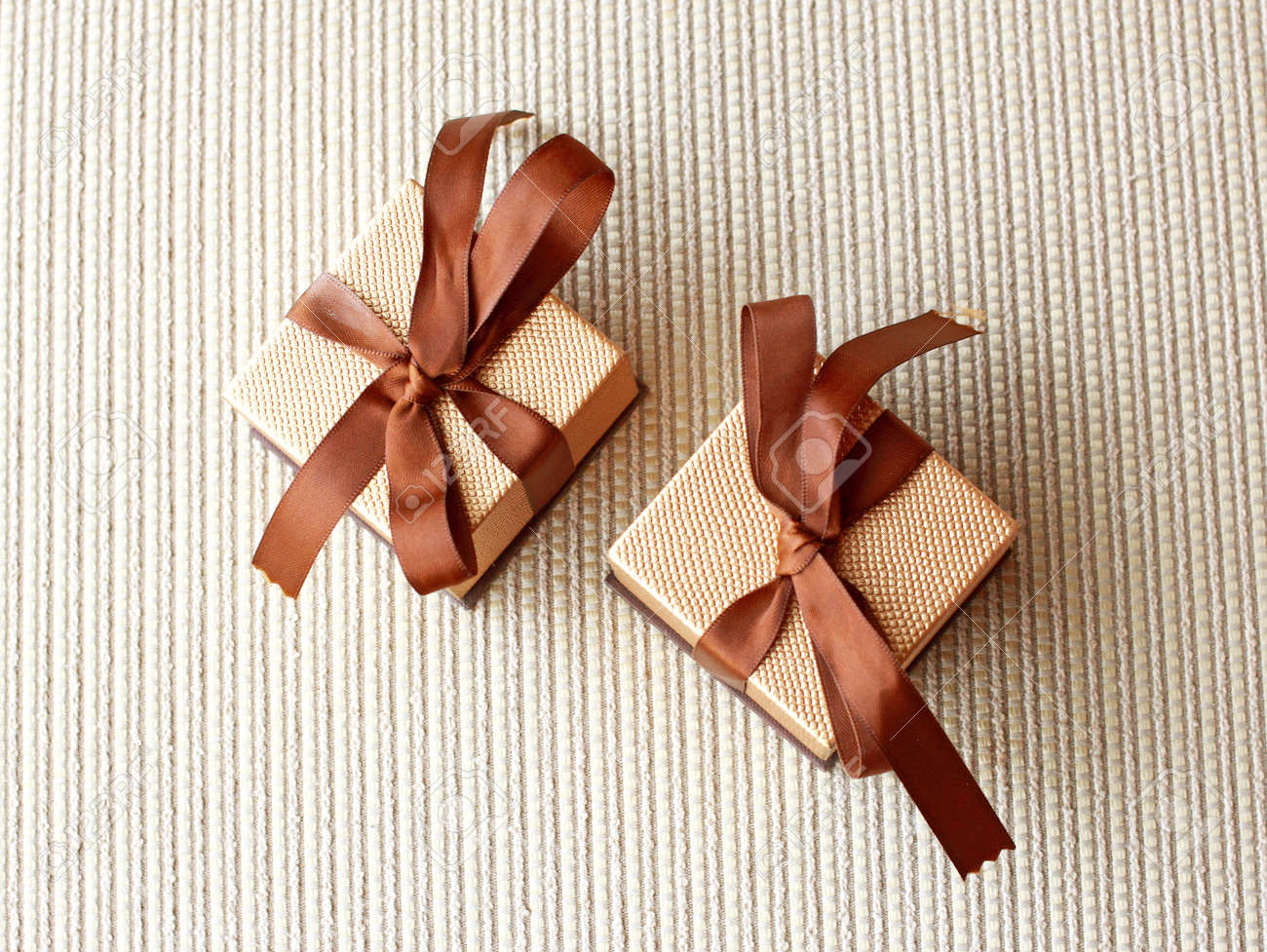 Two luxury gift boxes with ribbon and bow stock photo picture and two luxury gift boxes with ribbon and bow stock photo 16454196 negle Choice Image