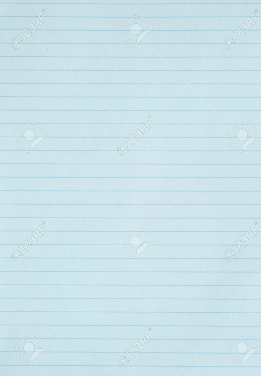 Blank Blue Lined Paper Sheet Background Or Textured Photo – Blank Line Paper