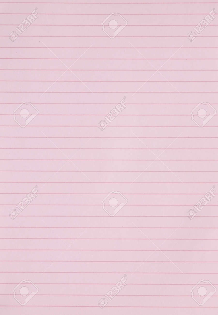 Blank Pink Lined Paper Sheet Background Or Textured Photo – Line Paper Background