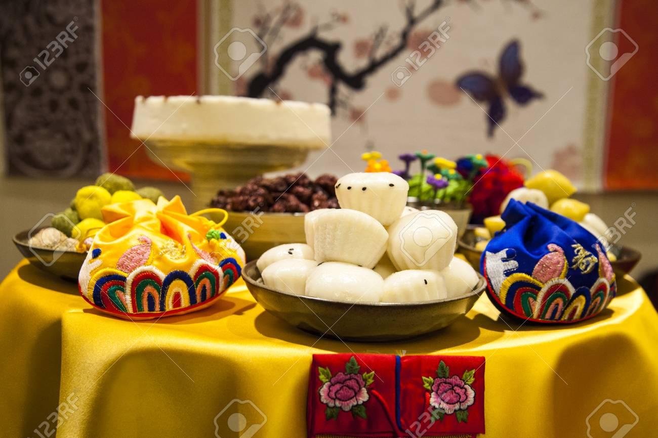 f03acea904a93 Foto de archivo - Primer cumpleaños (fiesta del primer cumpleaños de Corea)