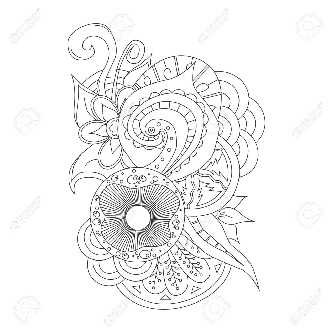 Dibujado A Mano Elemento Del Doodle Para El Diseño Ilustración Vectorial Floral Perfecto Para Las Tarjetas Invitaciones Banners Saludos
