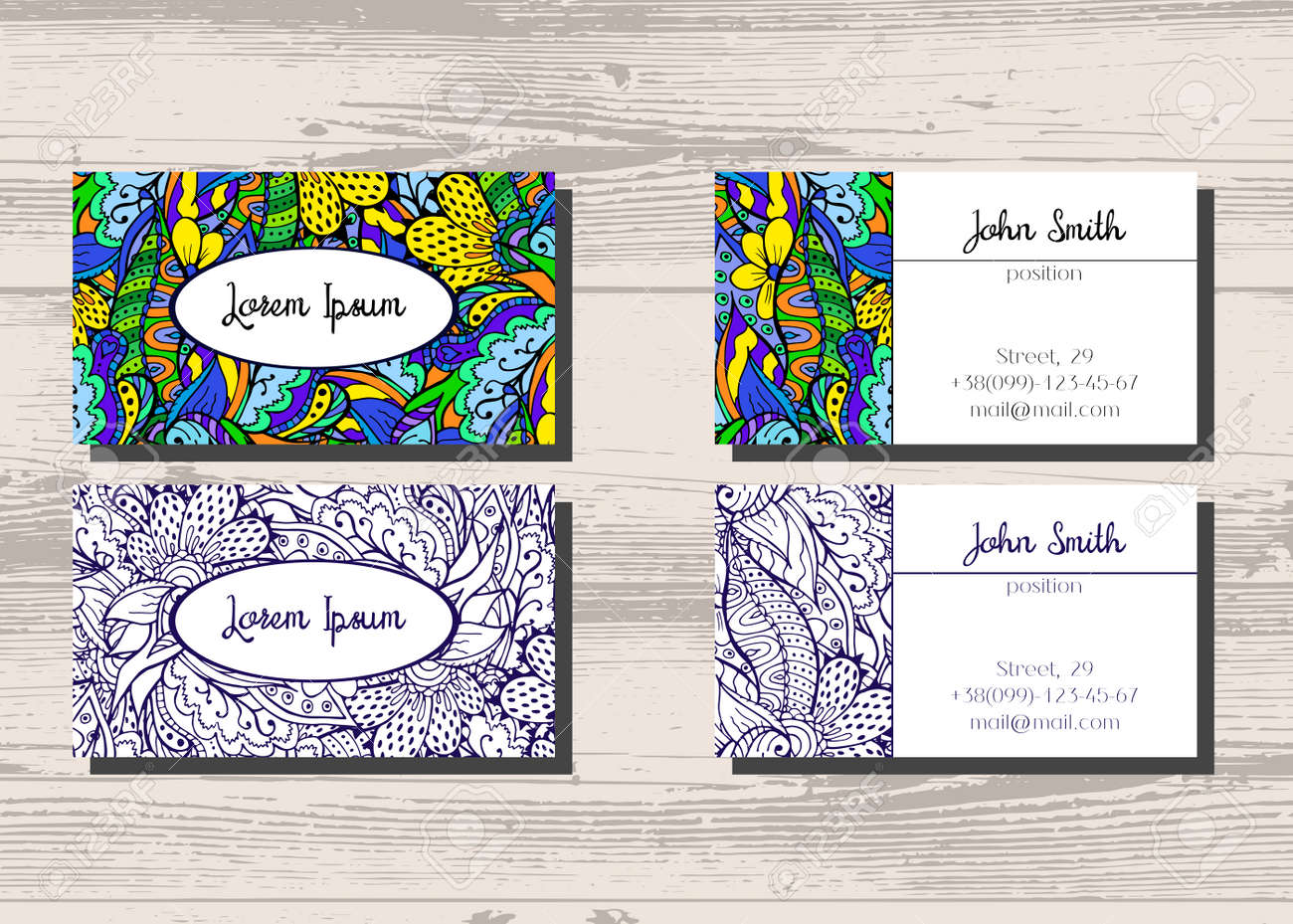 Business Cards With Two Sides For Your Company And Professionals ...