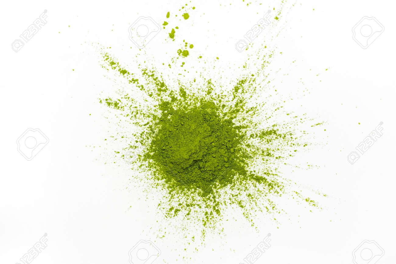 Green matcha tea powder - 98786949
