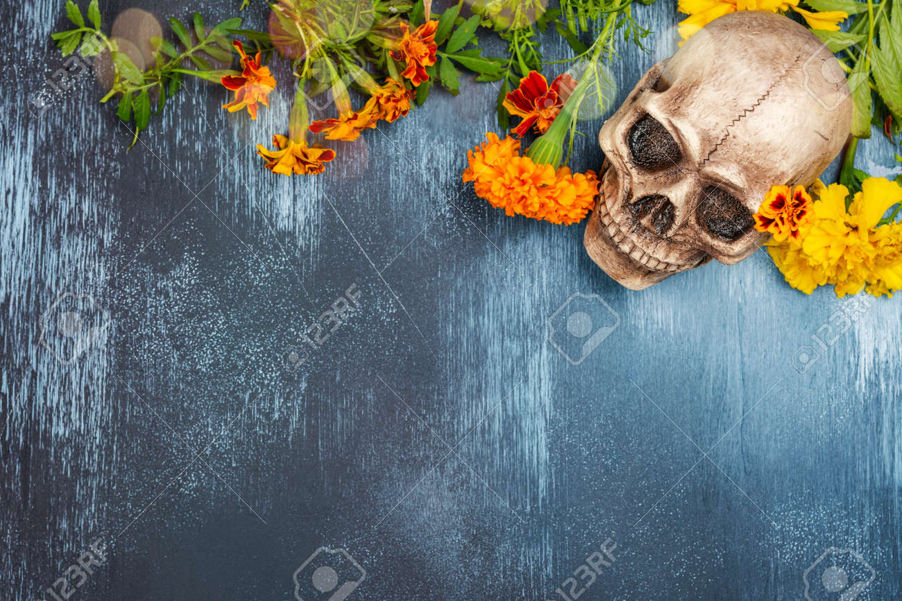 Mexican day of the dead background - 132345172