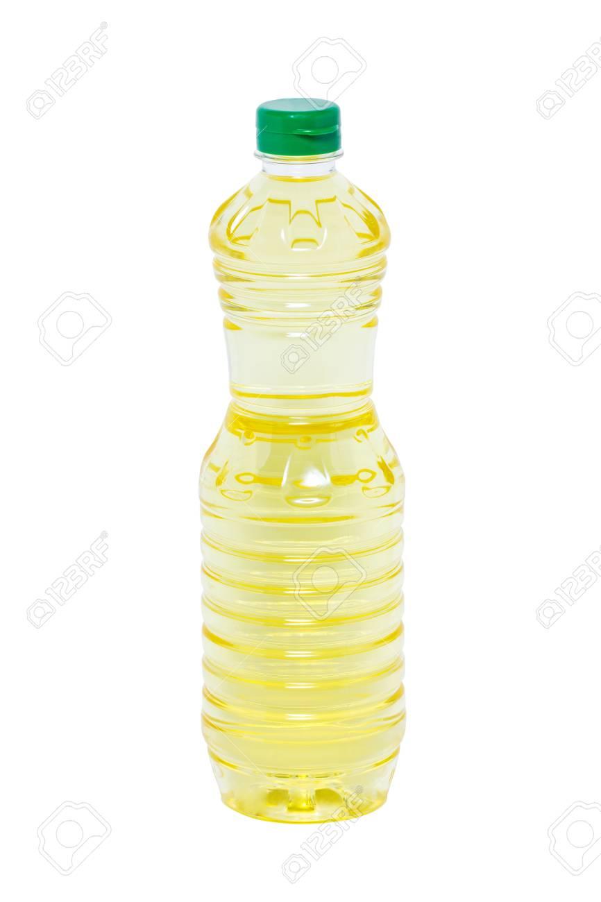 Plastic bottle of sunflower oil Stock Photo - 20402310
