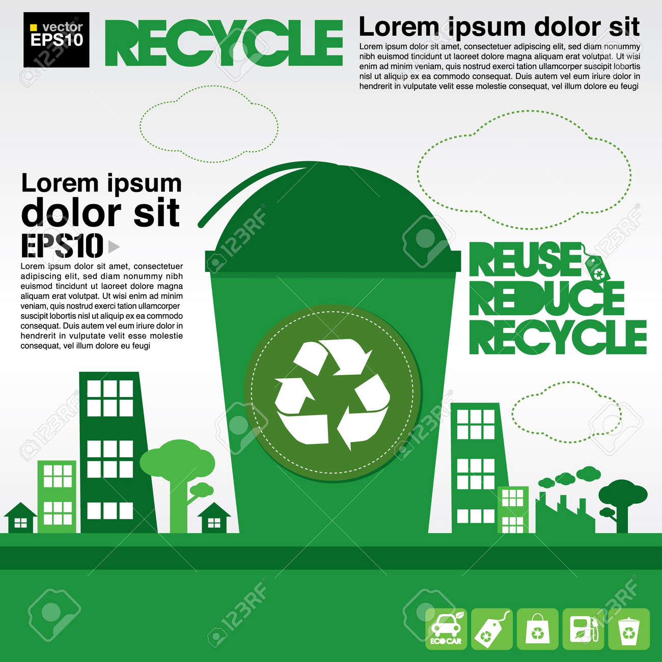 Recycle illustration concept Stock Vector - 21222182