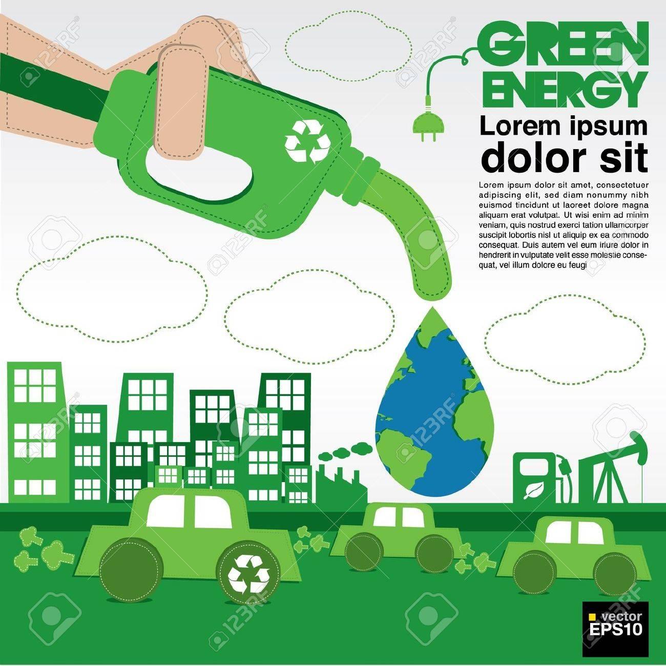 Green energy conceptual illustration vector EPS10 Stock Vector - 21353848