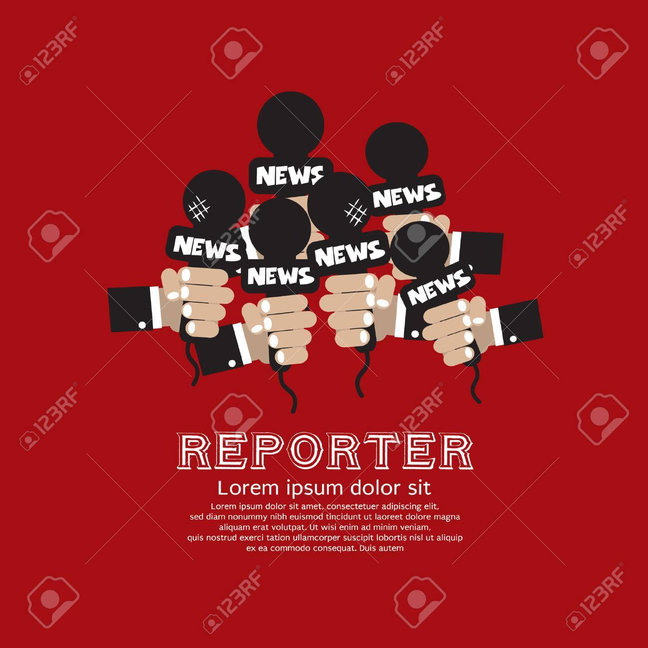 Reporter Concept Vector Illustration Stock Vector - 23651184