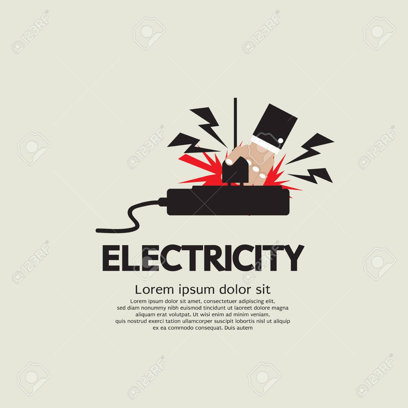 Electrical Fuse Vector Electric Shock Vector