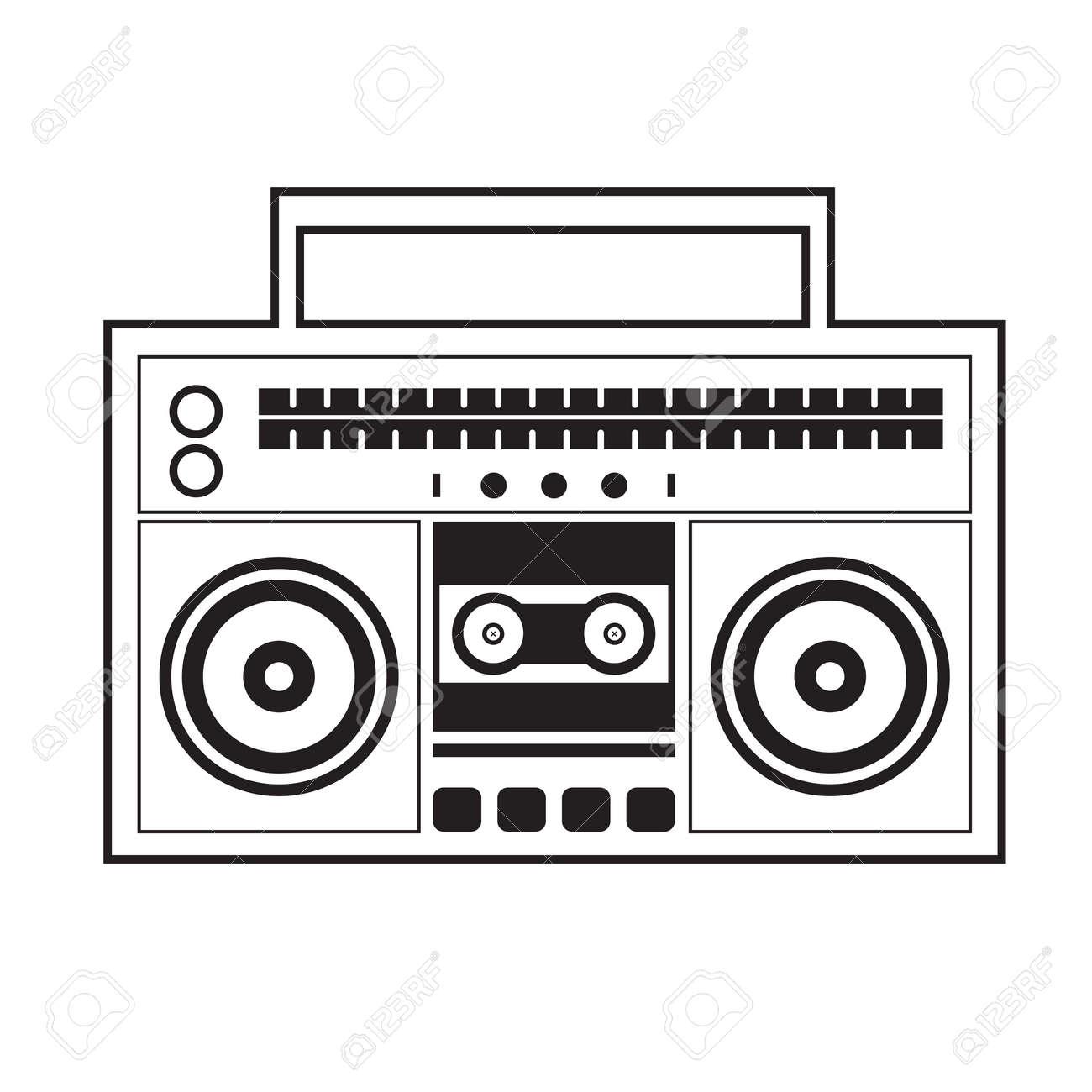Ghetto blaster radio vector illustration royalty free cliparts ghetto blaster radio vector illustration stock vector 26453256 sciox Images