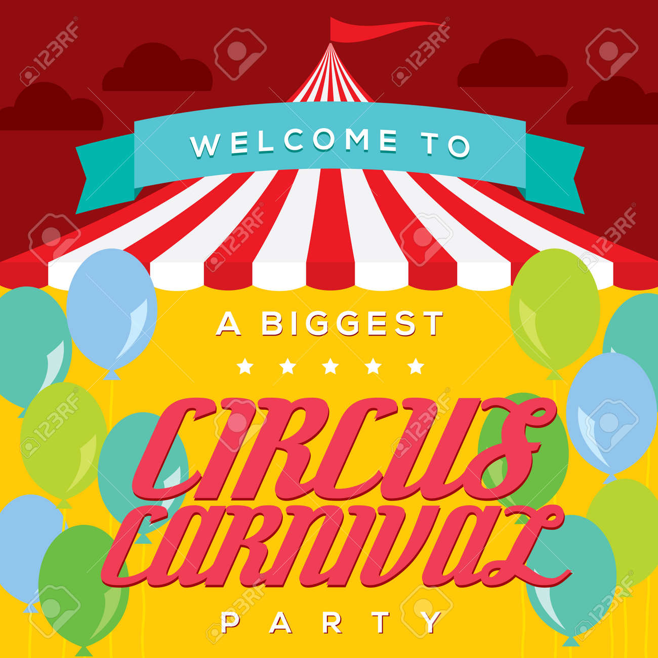 circus carnival poster template royalty free cliparts vectors and