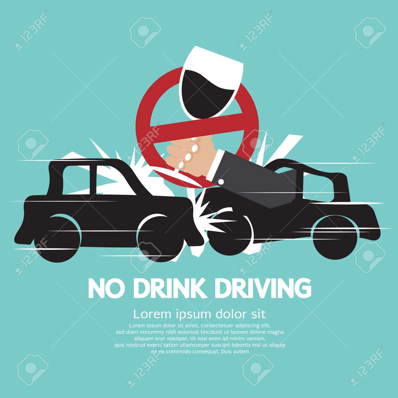 No Drink Driving Vector Illustration Stock Vector - 29025687